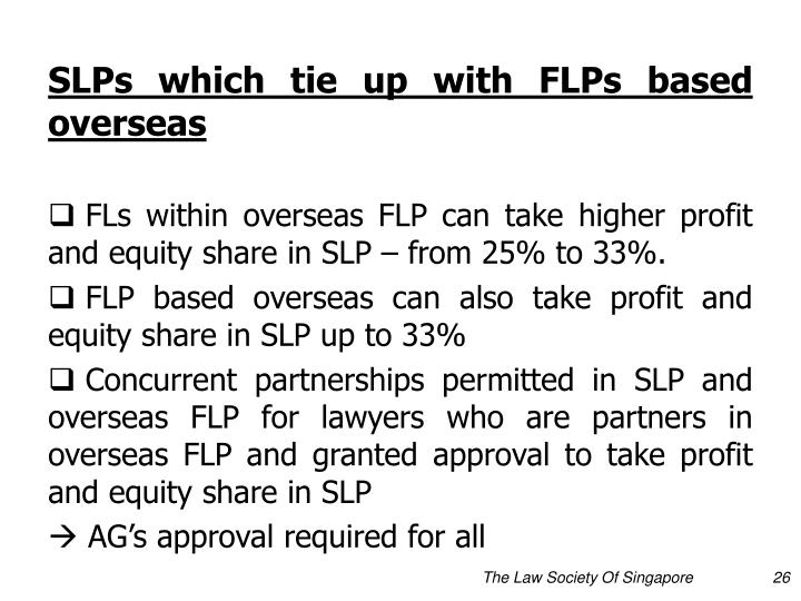 SLPs which tie up with FLPs based overseas
