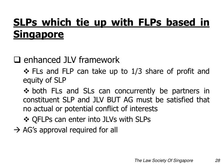 SLPs which tie up with FLPs based in Singapore