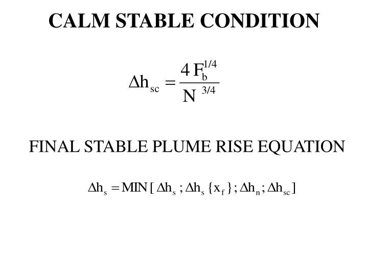 CALM STABLE CONDITION