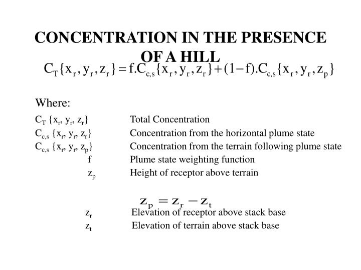 CONCENTRATION IN THE PRESENCE OF A HILL