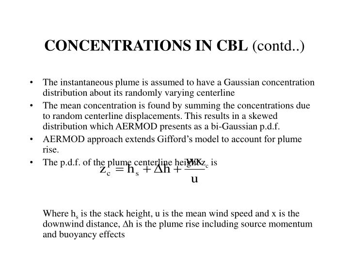 CONCENTRATIONS IN CBL