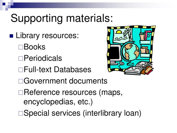 Supporting materials: