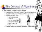 the concept of algorithm6