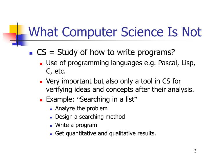 What Computer Science Is Not