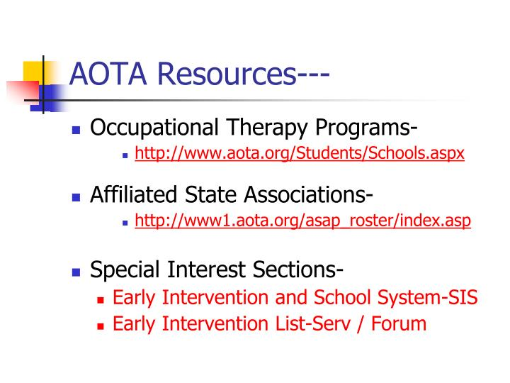 AOTA Resources---