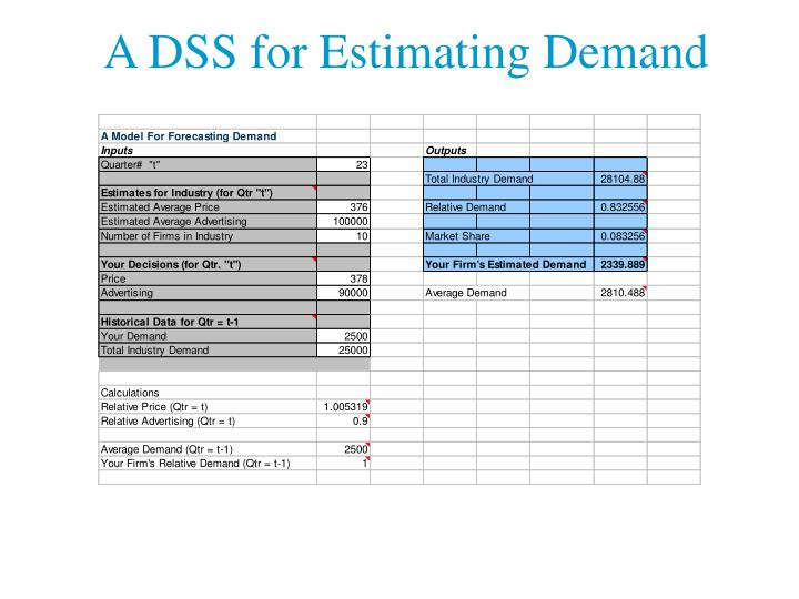 A DSS for Estimating Demand