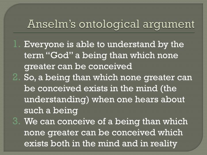 Anselm's ontological argument