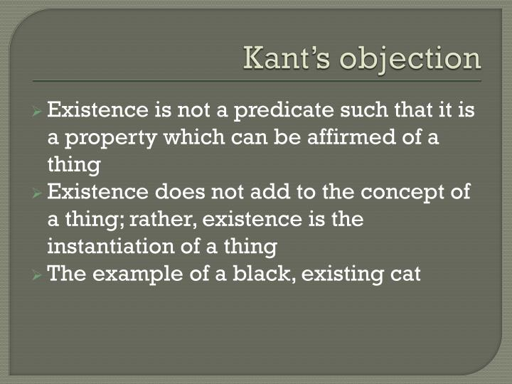 Kant's objection