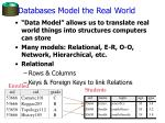 databases model the real world