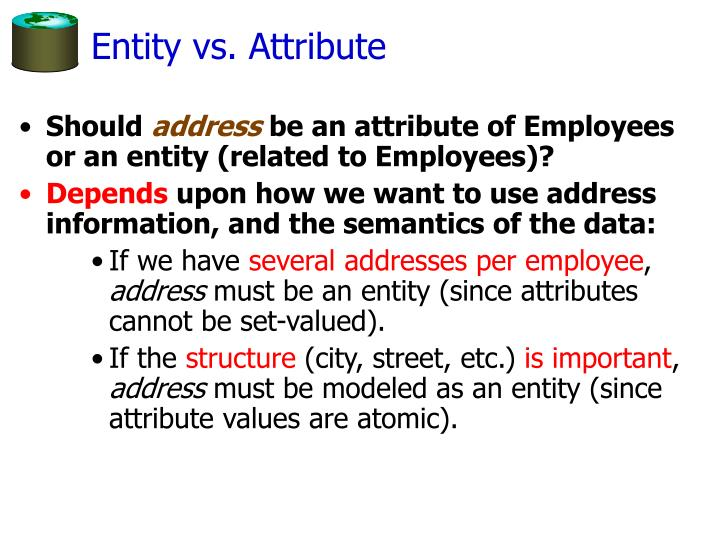 Entity vs. Attribute