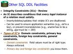 other sql ddl facilities