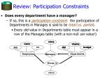 review participation constraints