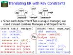 translating er with key constraints
