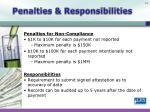 penalties responsibilities