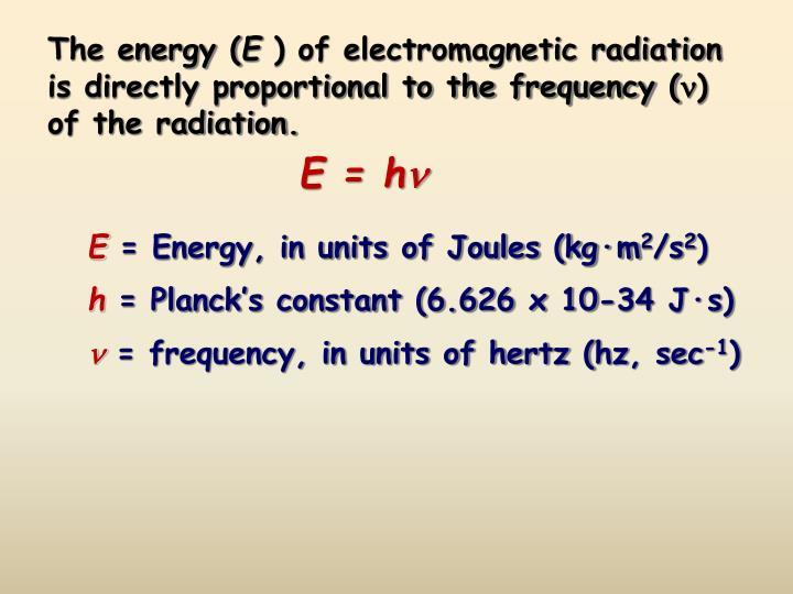 The energy (