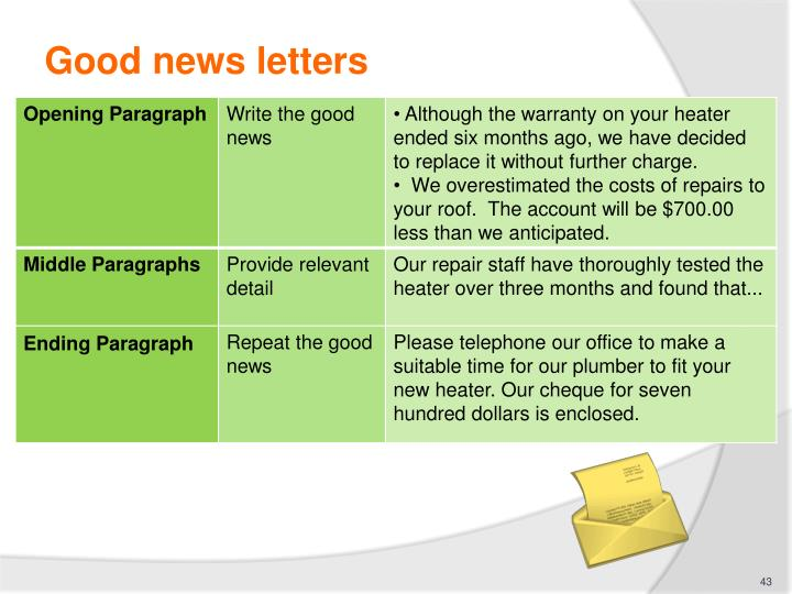 Good news letters