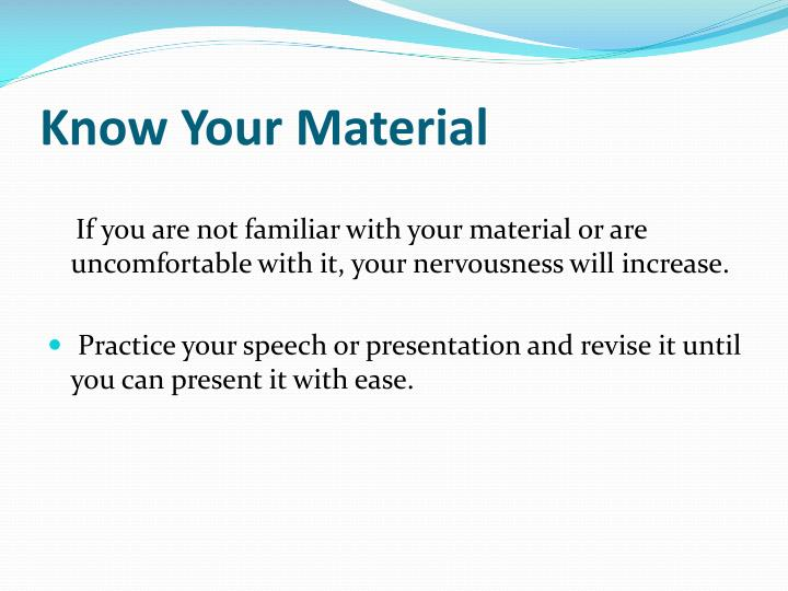 Know Your Material