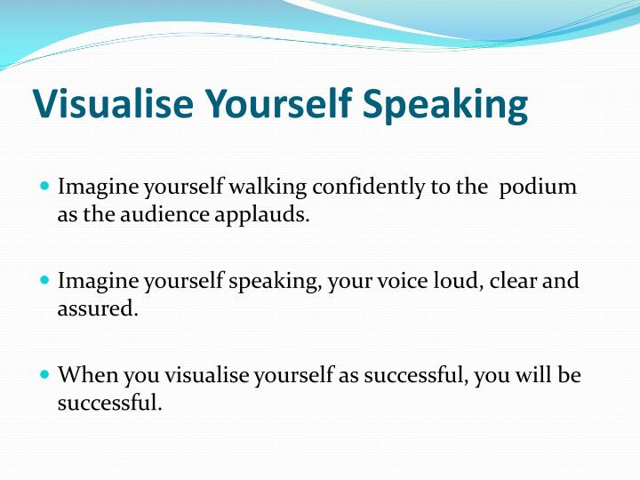 Visualise Yourself Speaking