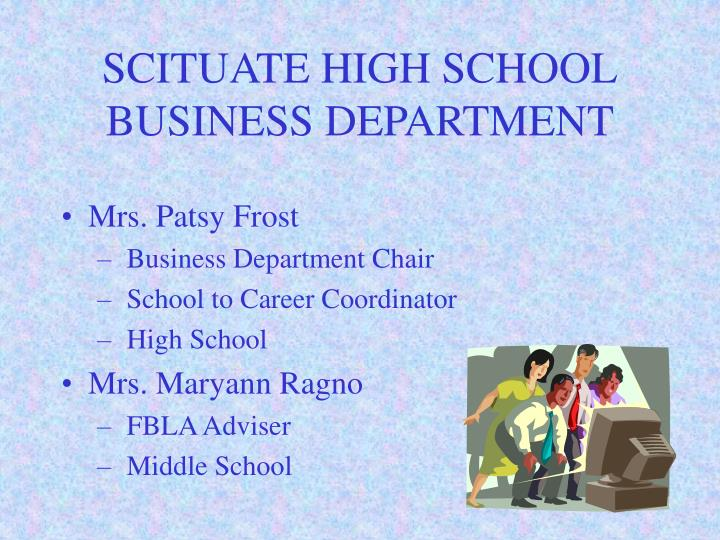 Scituate high school business department