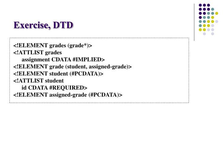Exercise, DTD