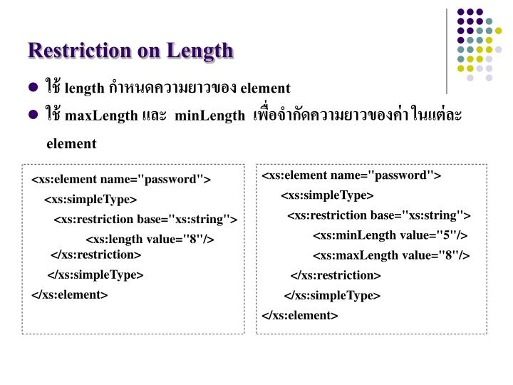Restriction on Length