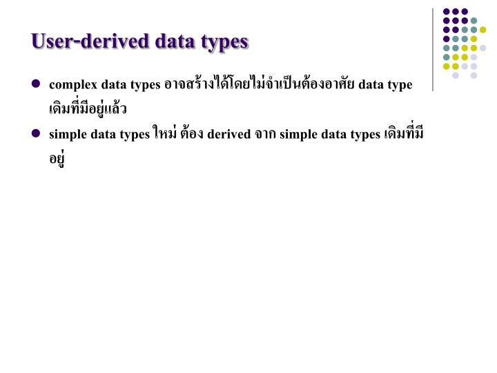 User-derived data types