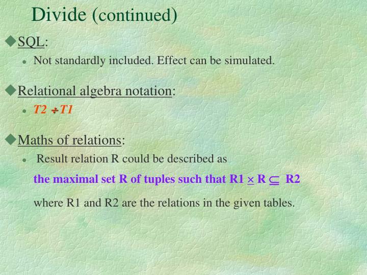 Divide (