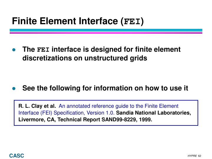 Finite Element Interface (