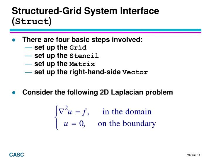Structured-Grid System Interface