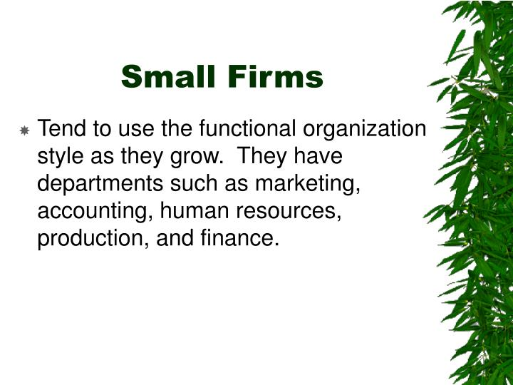 Small Firms