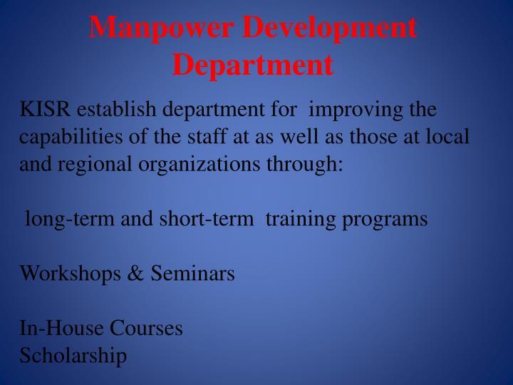 Manpower Development Department
