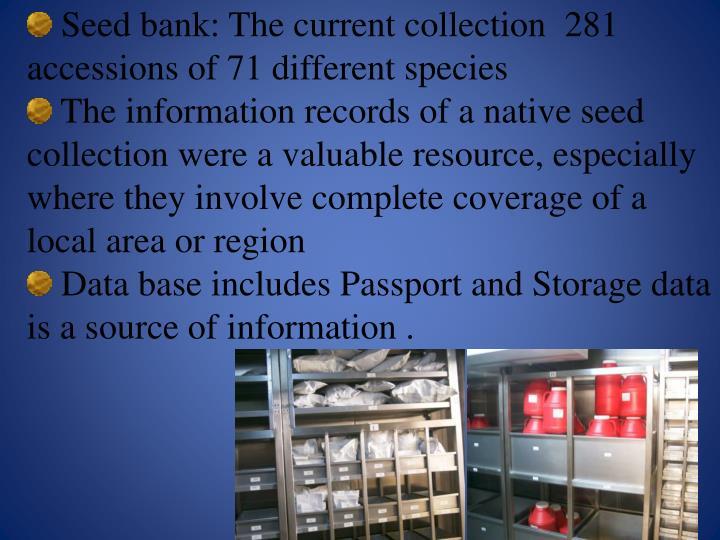 Seed bank: