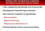 dealing with complaining customers and recovering from service failure