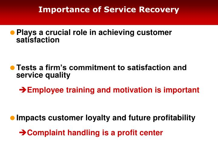 Importance of Service Recovery
