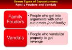 seven types of jaycustomers family feuders and vandals