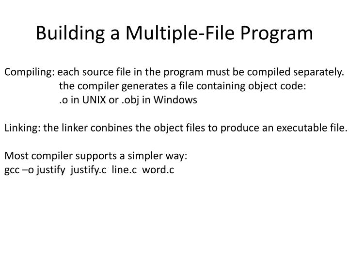 Building a Multiple-File Program