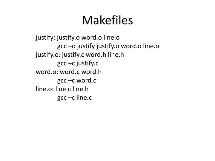 Makefiles