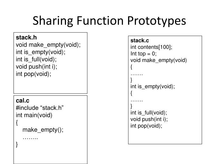 Sharing Function Prototypes