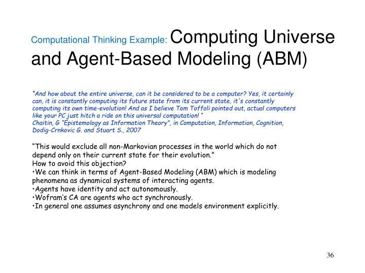 Computational Thinking Example: