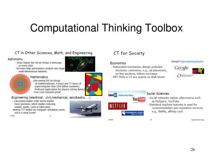 Computational Thinking Toolbox
