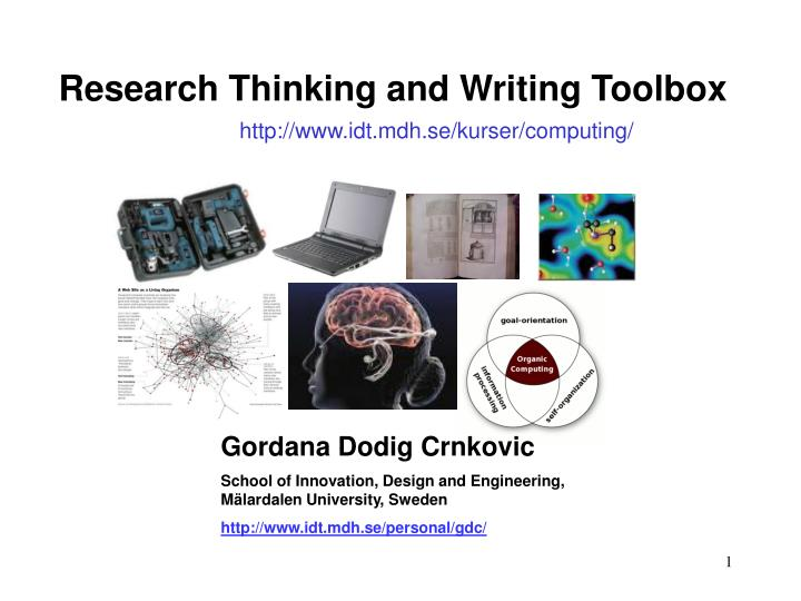 Research Thinking and Writing Toolbox