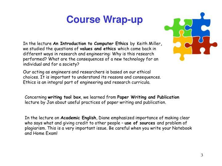 Course Wrap-up