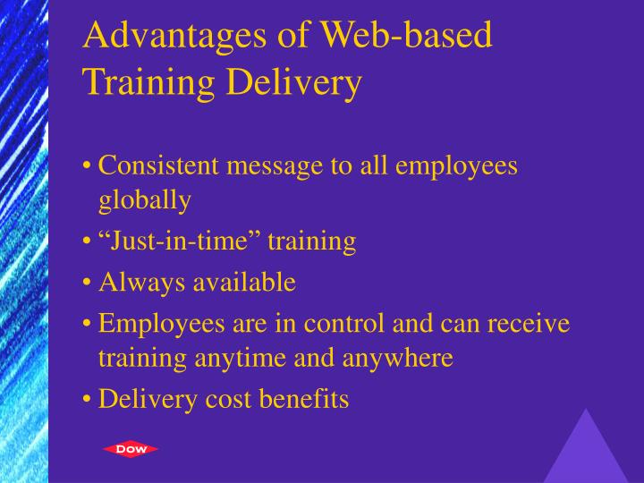 Advantages of Web-based Training Delivery