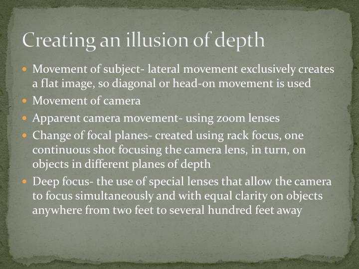 Creating an illusion of depth