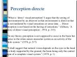 perception directe