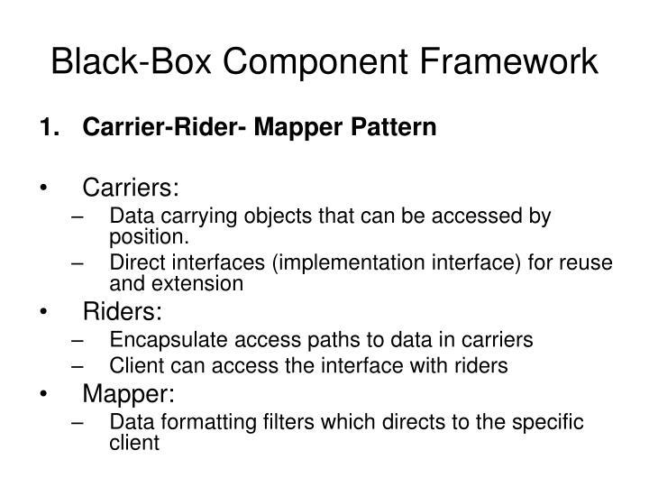 Black-Box Component Framework