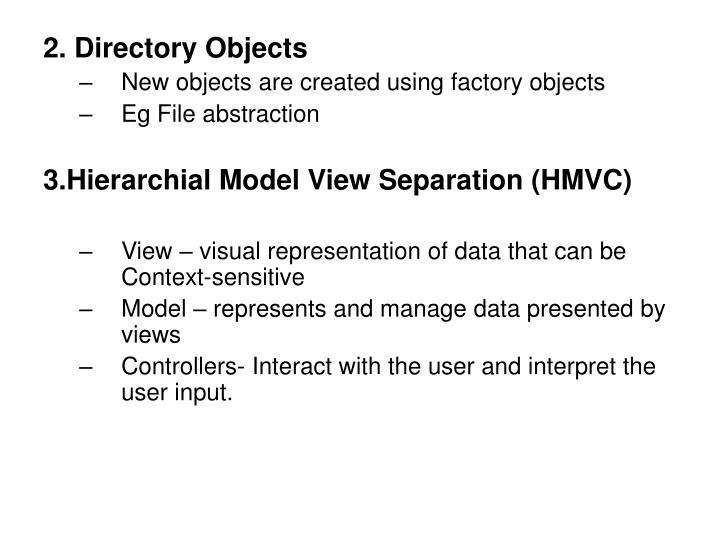 2. Directory Objects