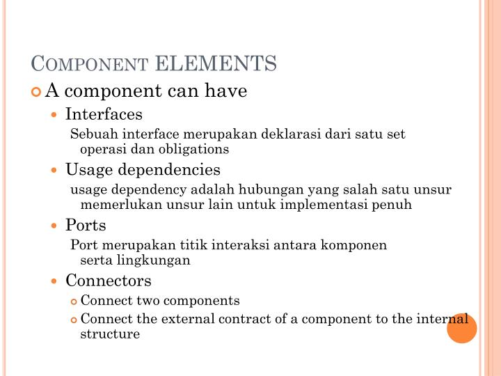 Component ELEMENTS