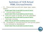 summary of 428 actual frwl encroachments1