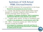 summary of 428 actual frwl encroachments2